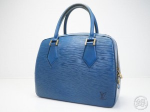 2544461ab9b1 AUTHENTIC PRE-OWNED LOUIS VUITTON LV EPI TOLEDO BLUE SABLONS HAND BAG PURSE  M52045 162400